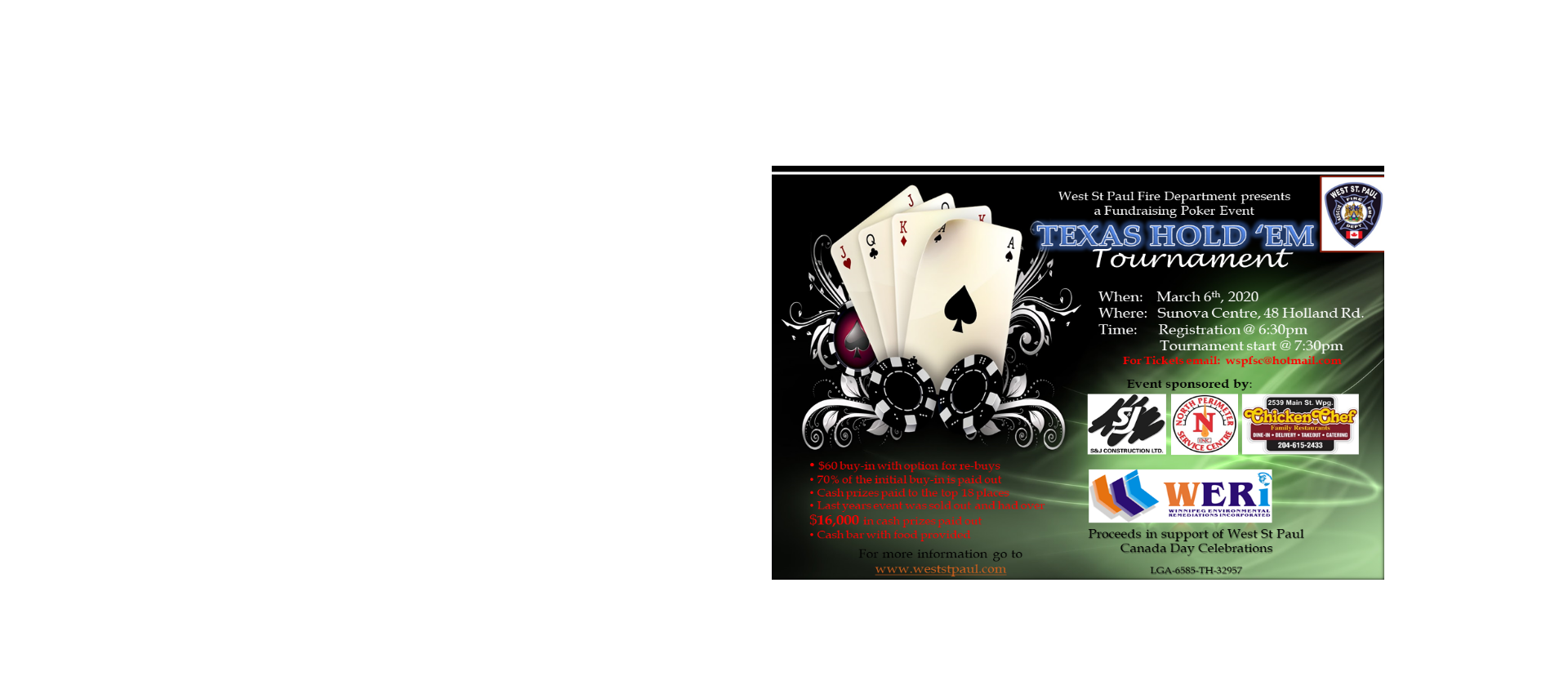 Fundraising Poker Event